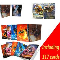 112 Cards Capacity Cards Holder Binders Albums For Pokemon Game Cards Book Sleeve Holders Including 117