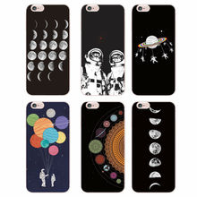 For iPhone 4S 5S 6S 6Plus  7Plus 7 5 5S Samsung Galaxy Space Love Moon Astronaut Cat Soft Silicone Printed Case