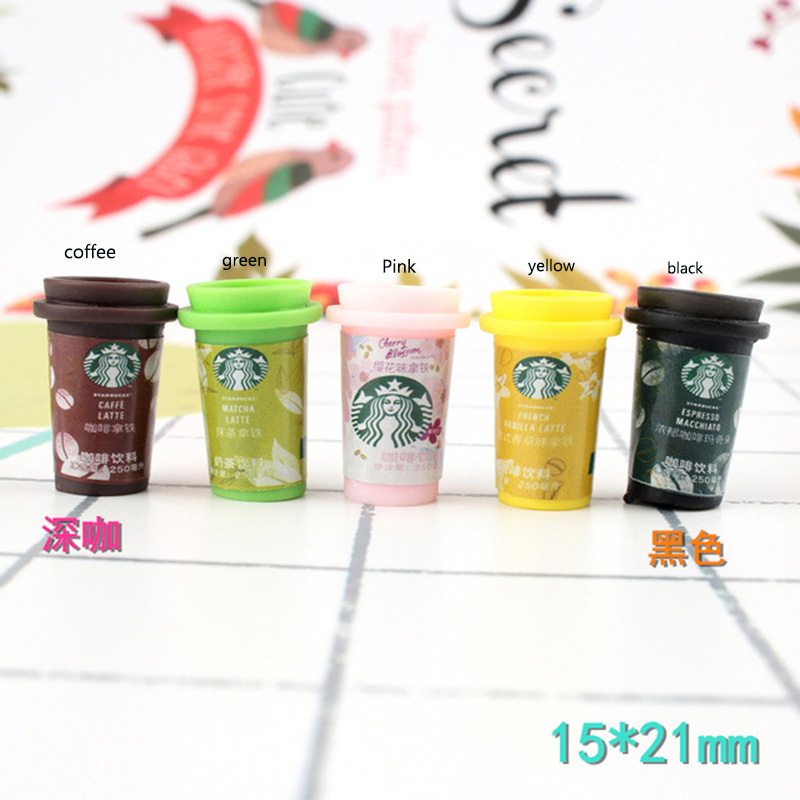 Miniature-Drink-Cup Scrapbooking-Accessories Cabochon-Crafts Simulation Fake-Food Resin