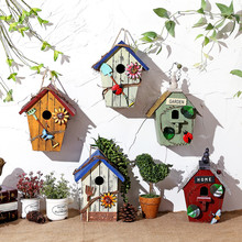 American country rural solid wood bird houses Decoration pendant