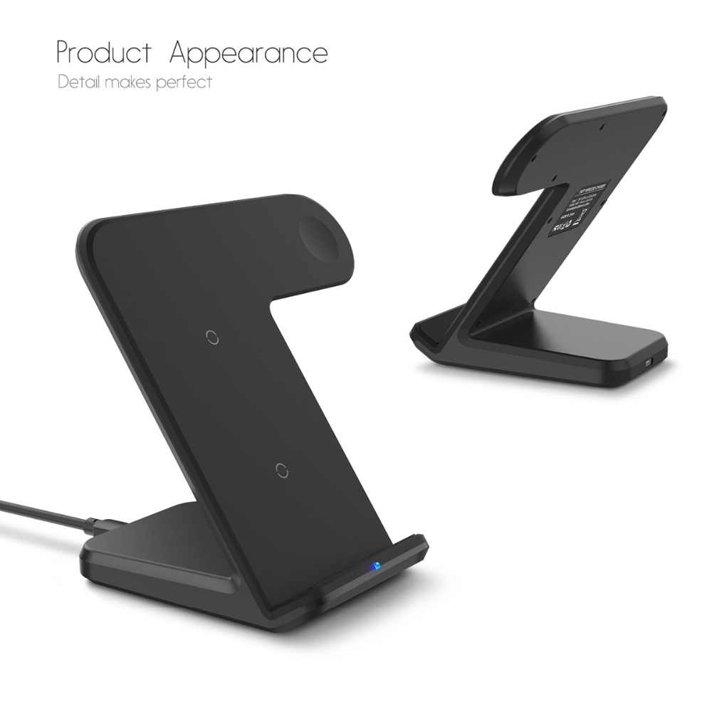 2 in 1 Wireless Charger Fast Charger For iPhone X 8 8 Plus Samsung S9 S8 S7  S6 Wireless Charger For Apple Watch iwatch 2 3