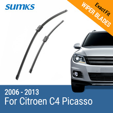 "SUMKS Wiper Blades for Citroen C4 Picasso 32 ""& 30 "" Fit Side Pin Arms / Bayonet Arms 2006 2007 2008 2009 2010 2011 2012 2013"