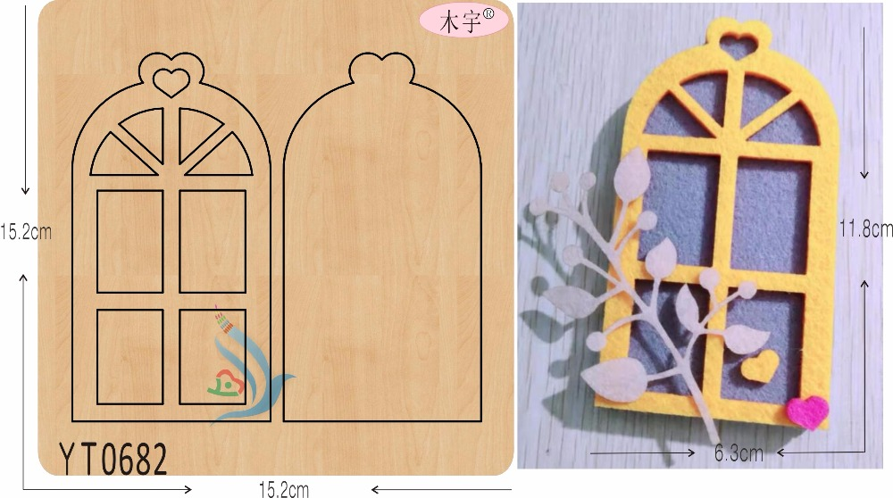 Small window DIY new wooden mould cutting dies for scrapbooking Thickness 15 8mm YT0682