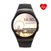 KW18 Smartwatch NFC Heart Rate Monitor Smart Watch For Apple Samsung Android Pedometer health full round MTK2502C