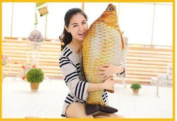 creative plush fish toy new Crucian carp design pillow gift about 100cm 0445