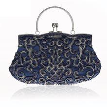Elegant Women Bridal Wedding Party Bags Exquisite Handmade Beading Cosmetic  Bag Socialite Makeup Bag High Quality acc7bc2f01bb