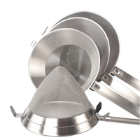 Bar Tool 304 Stainless Steel Slip Yarn Mesh big Funnel with handle Conical Filter Cone Funnel Shot coffee residue Filter Screen