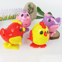 1pc New cheap children Classic Wind-Up funny creative clockwork animal Chicken designed Spring Toy newborn little baby kids(China)