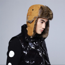 Russian Bomber Hats Warm Winter Faux Leather Casual Earmuffs Cap High