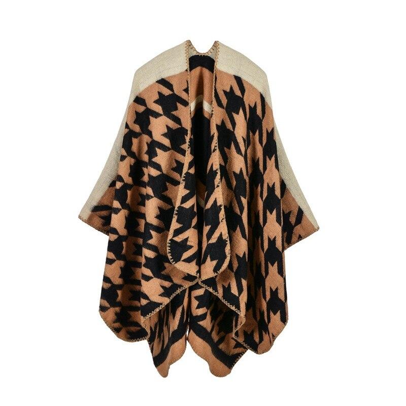 Brand Women Blanket Poncho Scarf Prorsum Cashmere Wool Scarfs Cape Winter Bufanda Manta font b Tartan