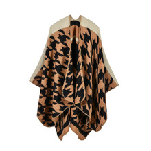Brand Women Blanket Poncho Scarf Prorsum Cashmere Wool Scarfs Cape Winter Bufanda Manta Tartan Houndstooth Twill Scarves Shawl