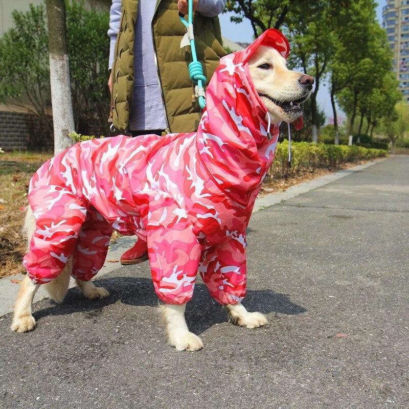 Flight Tracker Grande Impermeabile Del Cane Big Girl Boy Tuta Da Pioggia Giacca Impermeabile Abbigliamento Pet Golden Retriever Labrador Sibirskiy Haski Vestiti