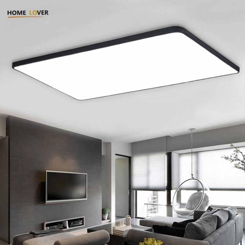 Homelover moderno led luces de techo para sala de estar dormitorio