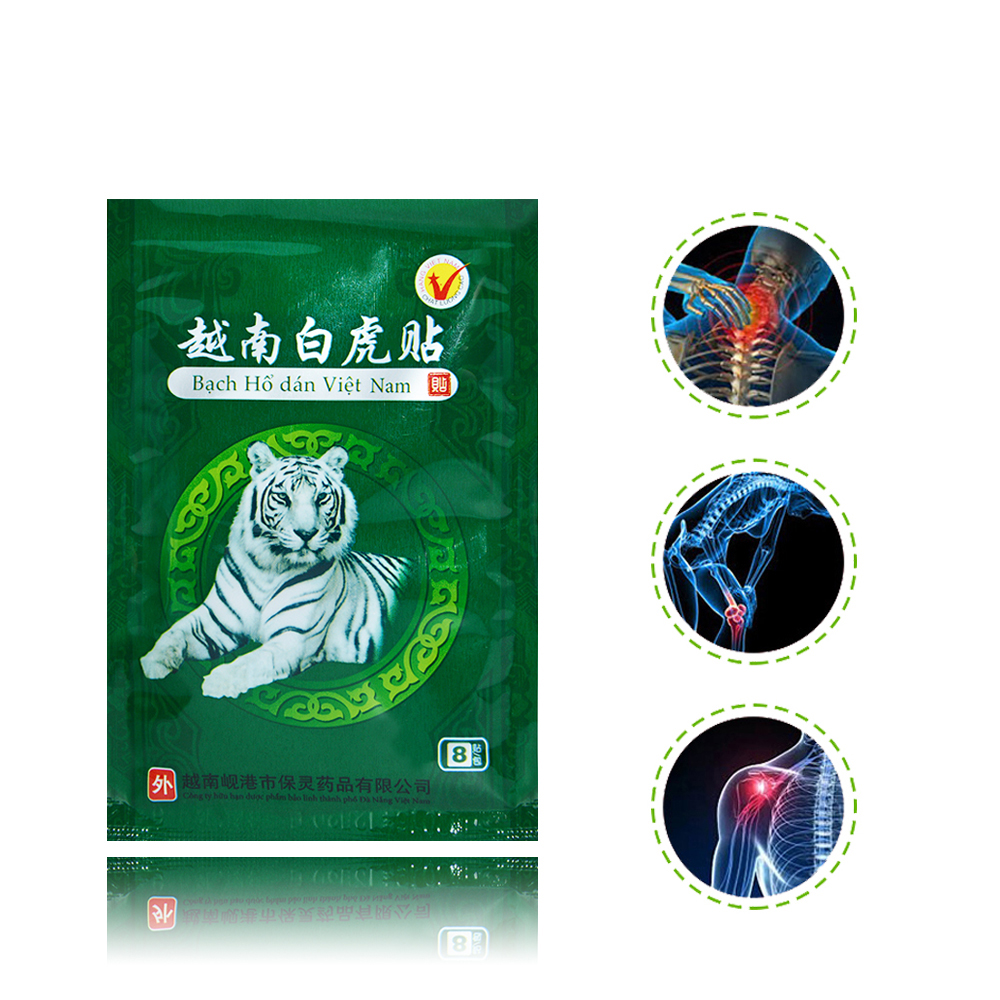 RuiTong 80Pcs/10bags White Tiger Balm Patches for Neck Pain 10*7cm Vietnam Pain Relieving Patch Health Care