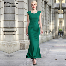 Women's clothing Knitted one-piece dress step 2017 spring summer dresses fashion elegant solid slim sleeveless full dress Female