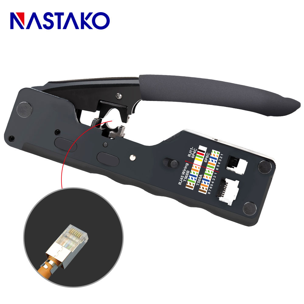 RJ45 Tool Network Crimping Tool RJ45 Crimper kit For RJ45 Cat7 Cat6 Cat5 Plug Connector network Cable Multi Crimp Metal Clip in Networking Tools from Computer Office