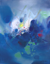 frameless canvas paintings contemporary abstract paintings masterpiece reproduction exciting by  Chu Teh-Chun art недорого