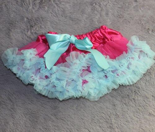 Юбка-пачка Одежда для маленьких девочек; нарядная одежда; юбка-пачка балетная юбка, пачка летняя одежда аксессуары для фотографирования новорожденных, ярко-розовым шифоном - Цвет: blue ruffled