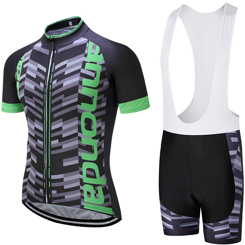 2018 UCI TEAM PRO cycling jersey 9D pad lätzchen shorts set Ropa Ciclismo herren sommer quick dry bike shirts Maillots culotte