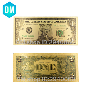 10pcs/set USD Gold Banknote 1928 Year 1 Dollar Paper Money Replica Currency Bank Note Bills for Art & Collectible