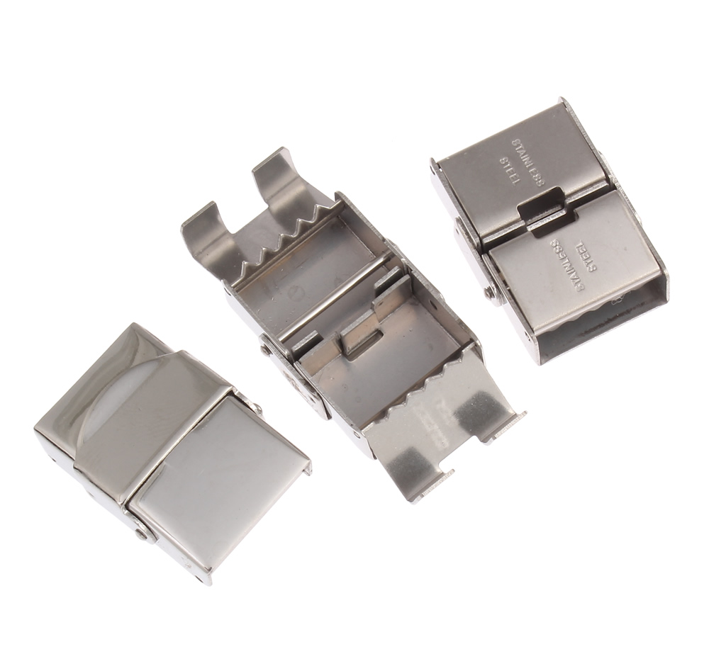 50pcs Watch Band Clasp Stainless Steel components for watches jewelry sieraden maken clasps diy Jewelry accessories Band Clasps