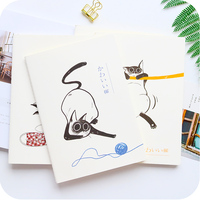 Cute Cat B5 Notebook Notepad Diary Journal Office School Supply Stationery Caderno Agenda Student Class Note