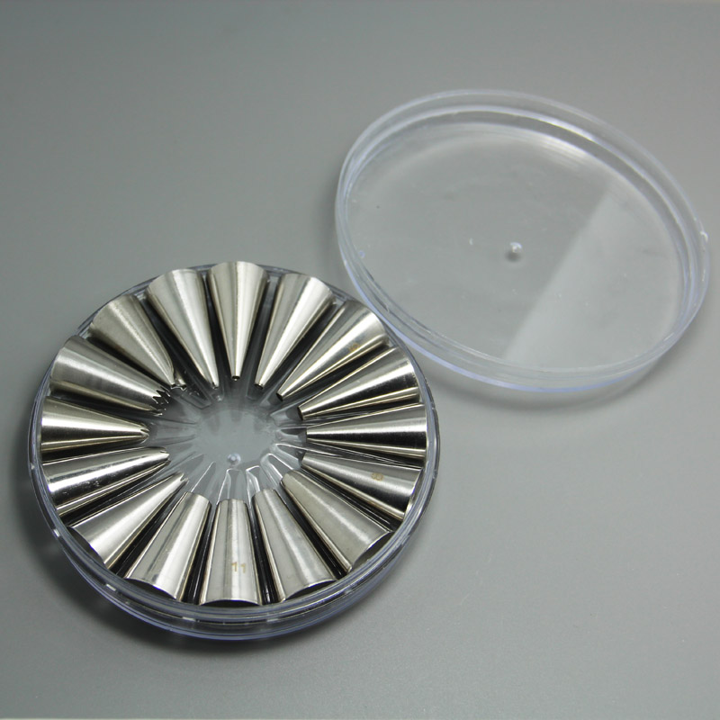 (4set / lot) 무료 배송 FDA 고품질 스테인레스 스틸 16pcs 케이크 장식 노즐 세트