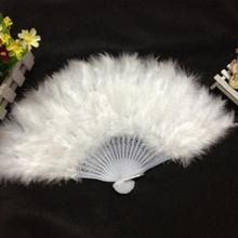 חם מתקפל יד כף מאוורר סיני סגנון ריקוד מסיבת חתונה לבן, אדום, עלה אדום 26*45cm #05