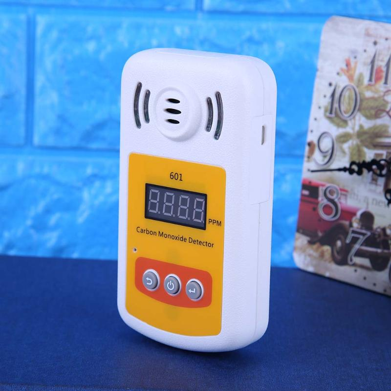 Home Security Digital Carbon Monoxide Detector Portable CO Gas Carbon Detector Light Alarm with Different Concentration Levels
