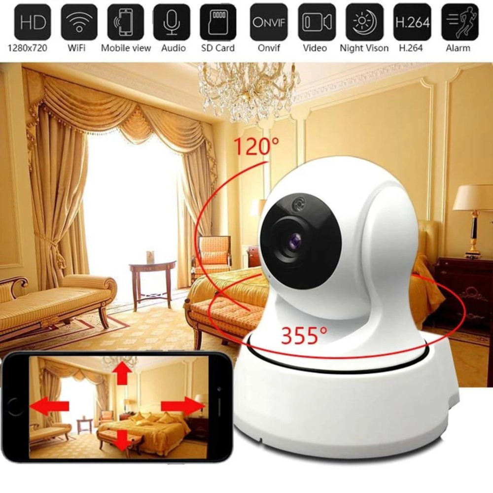 все цены на 2017 720P HD Wireless Wifi IP Camera Home Security Surveillance Camera Onvif P2P IR-Cut P/T Night Vision CCTV Indoor Camera онлайн