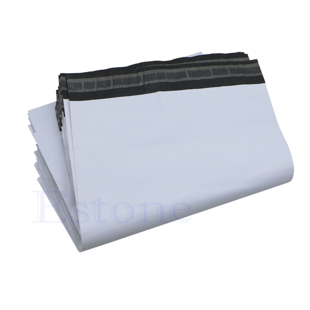 100Pcs/Bag Poly Mailer Plastic Shipping Mailing Bags Envelope Polybag 20*34cm/13*30cm/25*34cm New(China)