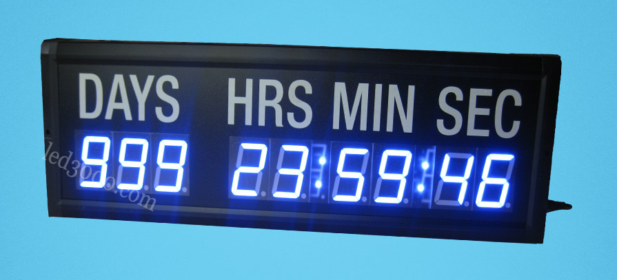 18inch blue color dayhoursminutes and seconds led countdown clock