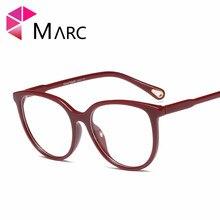 MARC Retro Metal Frame Eyeglasses Oversized Clear Glasses Men Women Transparent Optical Cat Eye Frames Spectacle 95157