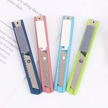 Stainless Steel Mini Utility Knife Cutter Razor Blade Tool Sharp Snap Off Knife Retractable stainless steel mini utility knife cutter razor blade tool sharp snap off knife retractable