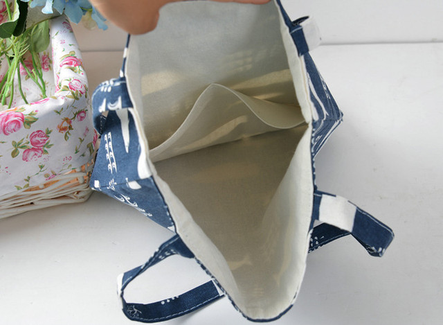 Whale Print Cotton Beach Bag 5