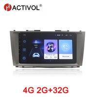 Hactivol 2 ГБ + 32 ГБ, Android 8,1 автомобиль радио для Toyota Camry Aurion V40 2006 2011 Автомобильный dvd Плеер с gps навигатором автомобильные аксессуары 4G интернет
