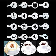 16 шт. Творческий хороший кофе Бариста трафареты шаблон Strew Pad Duster Спрей искусство кофе инструменты JAN25
