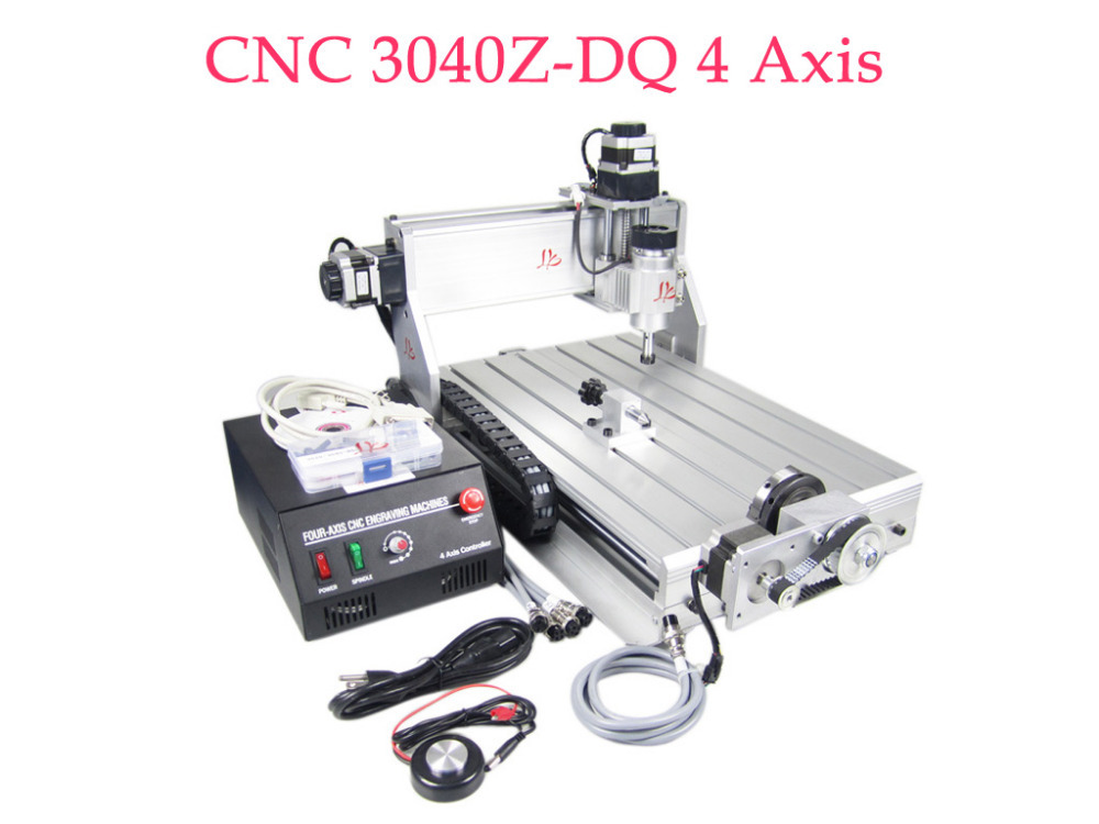 CNC 3040Z-DQ 4 Axis with 230W DC Spindle Ball Screw 3D CNC Router Engraving Machine cnc 3040z dq 3 aixs with ball screw engraving machine