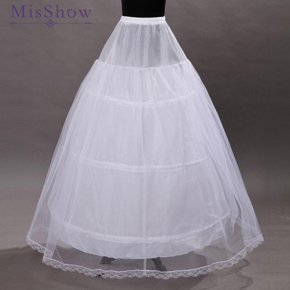 100% Real Photo 2019 Petticoats 3 Hoop Ball Gown Fluffy White Underskirt Wedding Petticoat Crinoline Wedding Accessories jupon