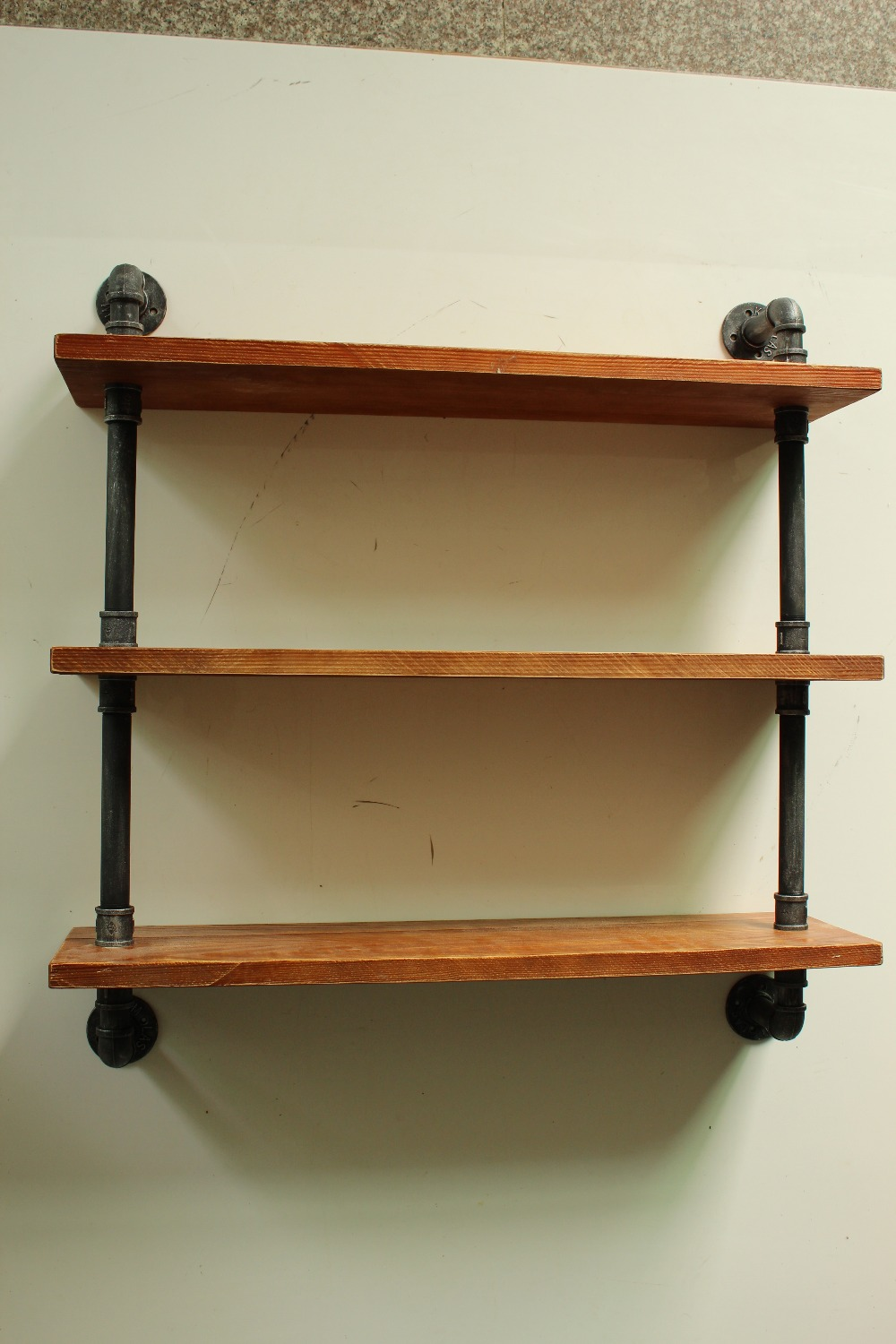 Aliexpress.com : Buy Industrial Style Shelf Pipe Shelving Galvanised Steel  Reclaimed Wood from Reliable wood steel stairs suppliers on Topower Vintage  ... - Aliexpress.com : Buy Industrial Style Shelf Pipe Shelving