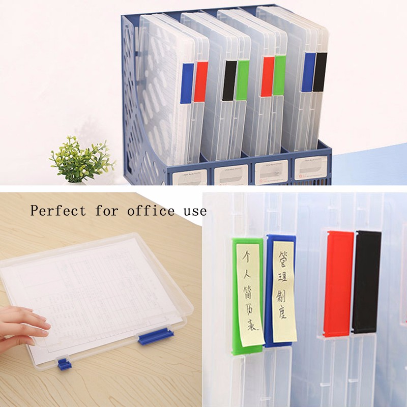 A4 Transparent Storage Box Clear Document Paper Filling
