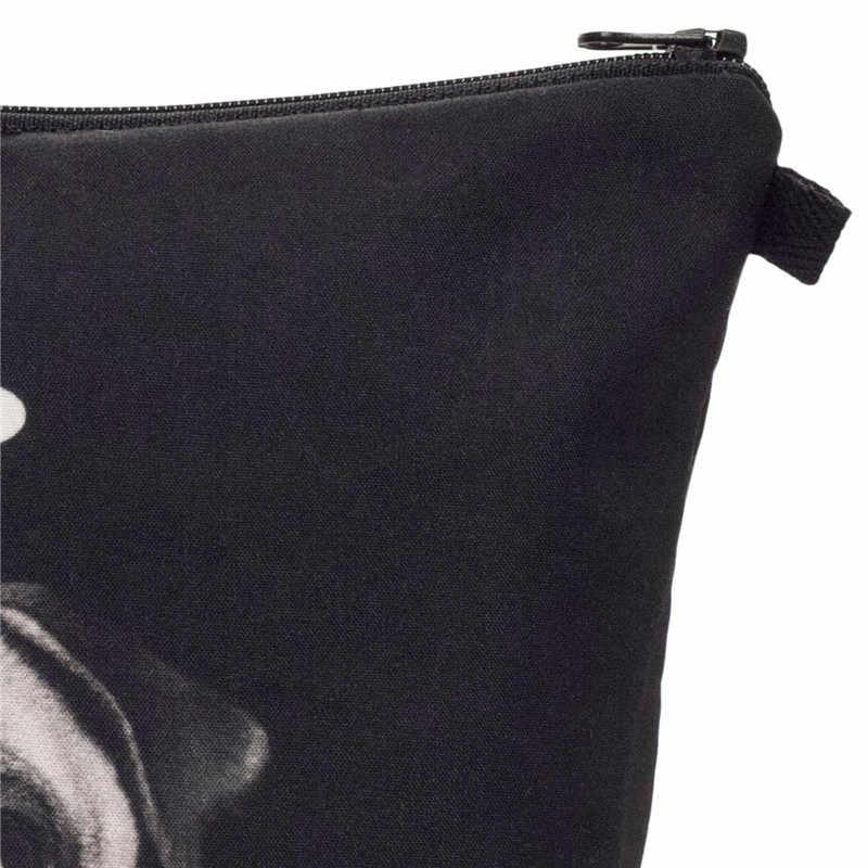 Sacos de maquiagem de osso de cão de impressão de moda saco de cosméticos organizador bolsa de viagem para senhoras bolsa de cosméticos