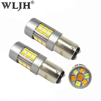 WLJH 2x 1157 7528 2057 LED Car BAY15D Led Bulb Auto Tail Signal Brake Stop DRL