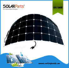 Solarparts 1pcs 100W PVflexible solar panels solar modules panel solar12V for Boat Golf cart Baterry charger