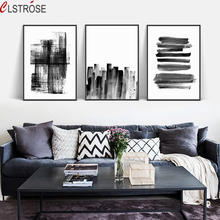 CLSTROSE Black White Nordic Minimalist Abstract Line Simplicity Painting A4 Canvas Art Print Poster Office Wall Pictures Home