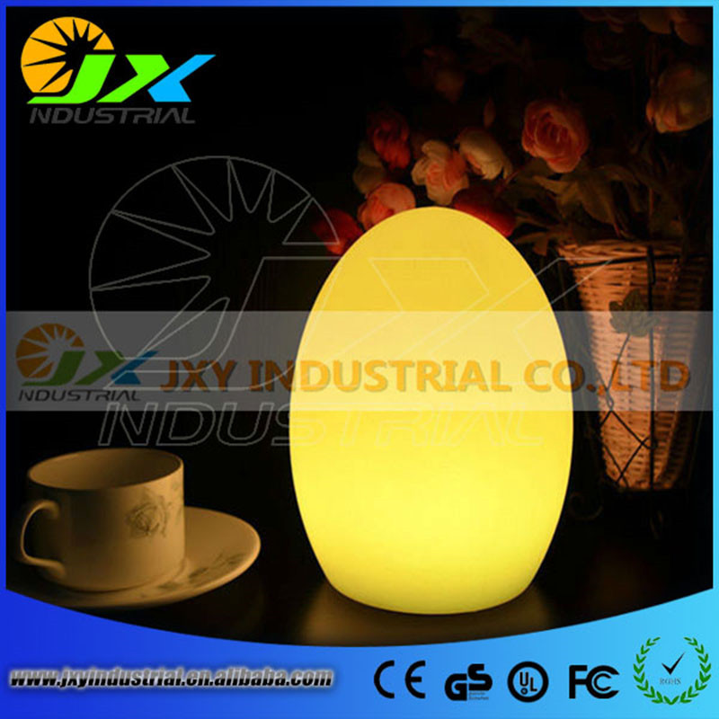 Free Shipping Colorful LED Egg bar table lamp Break-resistant, rechargeable LED glow egg night light for Christmas free shipping remote control colorful modern minimalist led pyramid light of decoration led night lamp for christmas gifts
