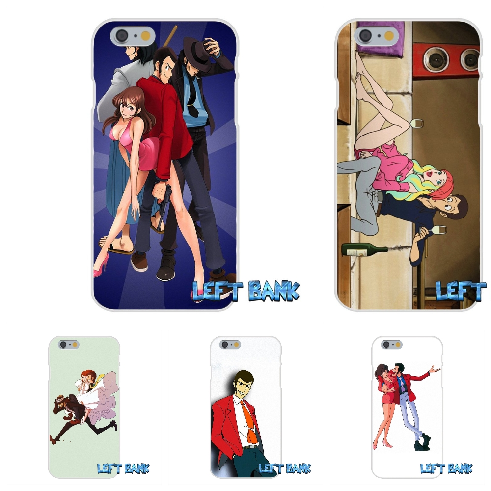 For iPhone 4 4S 5 5S 5C SE 6 6S 7 Plus Lupin The Third Soft Silicone TPU Transparent Cover Case