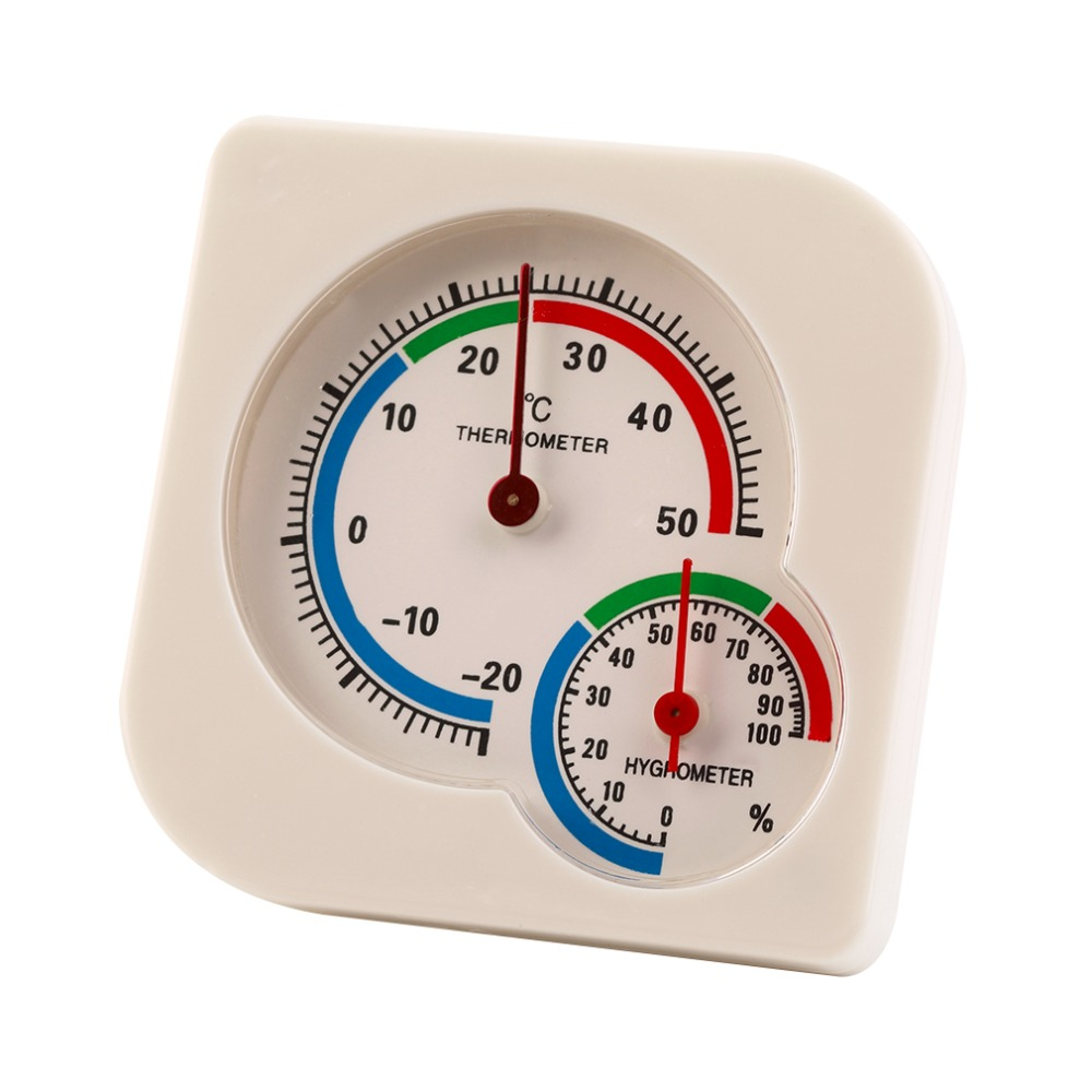 MasTech Kapalı Açık Termometre Higrometre-20 ila + 50 Santigrat Bahçe Ofis Sıcaklık Nem Ölçer Daimi Duvar Asılı
