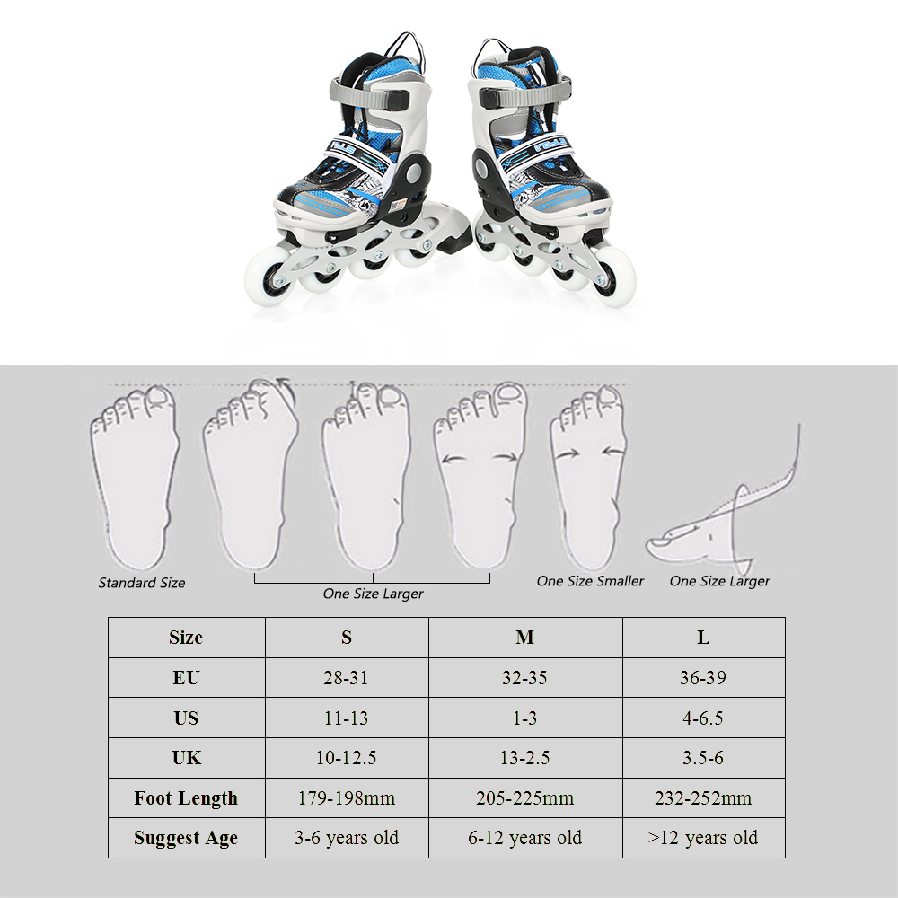 Image 5 - Portable Unisex Child Professional Adjustable Roller Skating Shoes Inline Skates 68mm Wheels with mute Bearings outdoor sports-in Skate Board from Sports & Entertainment