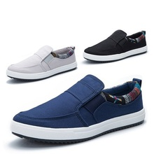 Mâle chaussures hommes Adulte toile mâle occasionnels chaussures bas de skate chaussures de coton fait paresseux printemps chaussures tendance respirant